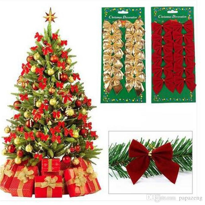 christmas tree tie on bow decorations hanging ornament party festival decor home christmas decorations festive party supplies discount christmas ornaments - How To Tie Decorative Bows For Christmas Decor