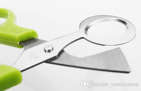 Caille Ciseaux Coupe-œuf vert simple main oeufs Ouvre Stiring Respectueux de cuisine en métal Gadgets Outils Egg