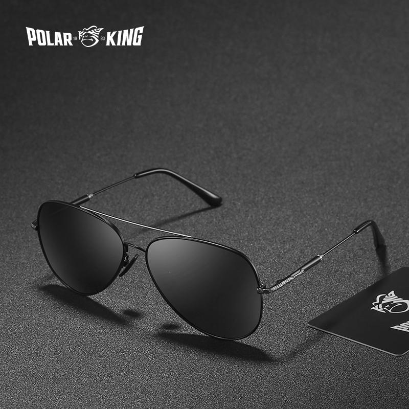 05dbd180281312 POLARKING Brand Double Bridge Mirror Polarized Sunglasses For Men ...