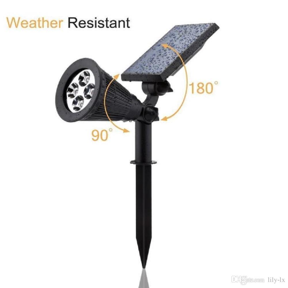 Güneş Açık Bahçe LED Spot RGB Renk Değiştirme Su Geçirmez Sensör Güneş Enerjili Işıklar 2 in 1 kurulum Duvar veya Zemin Montajı