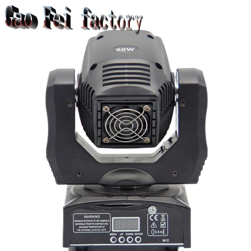 60W lumière de tête mobile DMX DJ Disco Party mariage effet de scène luminaire 60W lumière de tête mobile LED blanche