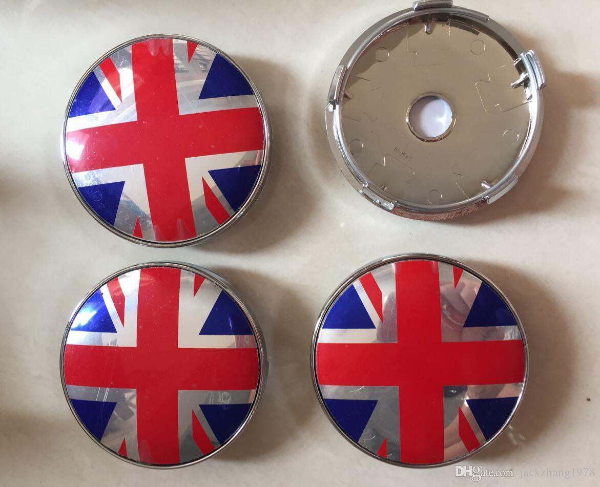 2018 60mm British Flag Car Emblem Wheel Center Hub Caps Auto Wheel