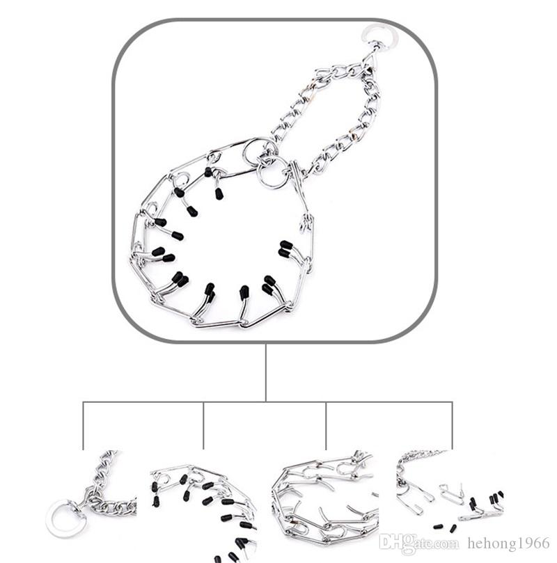 Creative Metal Alloy Dog Collars Useful Pet Training Adjustable Rings With Rubber Hat Dogs Necklace Help Make Tame Props 9 2rx4 Z