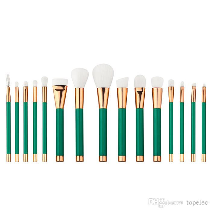 최신 15Pcs 고품질 파인 브러쉬 메이크업 브러쉬 파우더 파운데이션 화장품 메이크업 브러쉬 세트