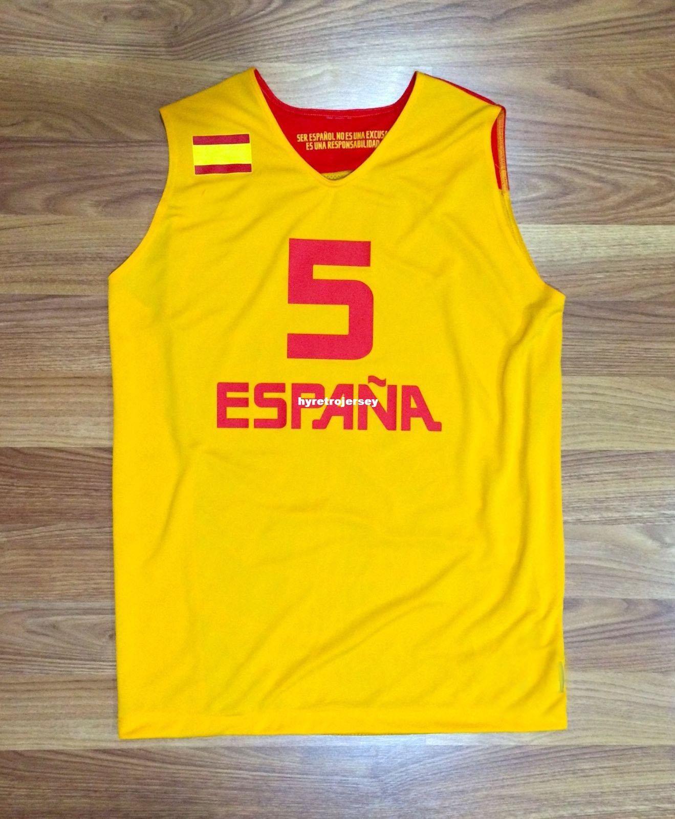 Cheap Wholesale Rudy Fernandez Spain Basketball Game Jersey Eurobasket Fiba Top T Shirt Vest Stitched Basketball Jerseys
