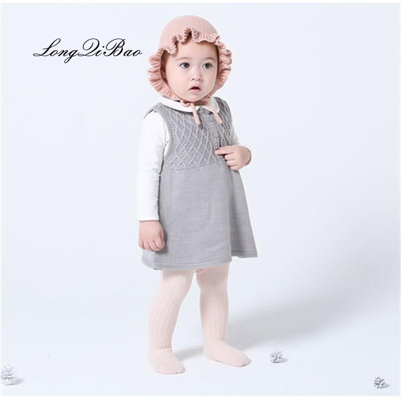 913dc2df07a9 2019 Autumn And Winter Baby Girl Cotton Dress Girls Sweater Princess ...