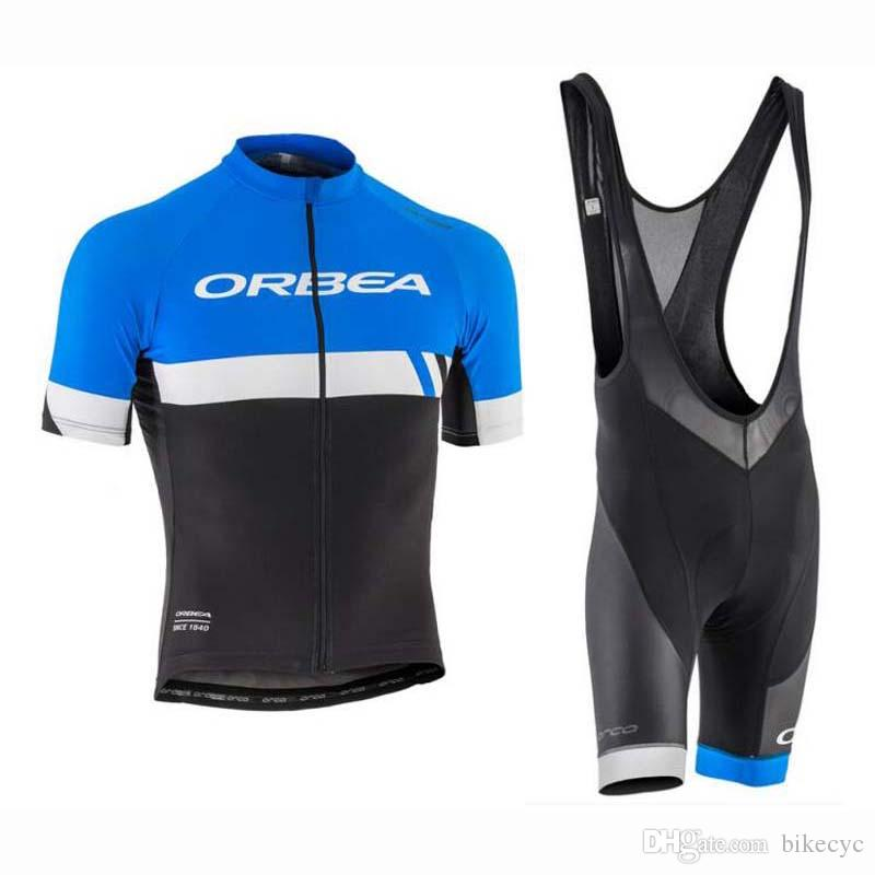 ORBEA Team Cycling Short Sleeves Jersey Bib Shorts Sets Summer Quick Dry  High Quality Mountain Bike New Ropa Ciclismo Gel Pad C1716 ORBEA Cycling  Jersey ... 86bb35429