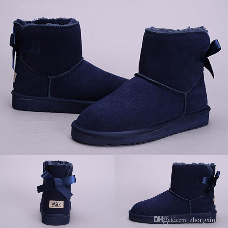 New Arrival Wgg Womens Australia Classic Grey Navy Blue Ankle Boots