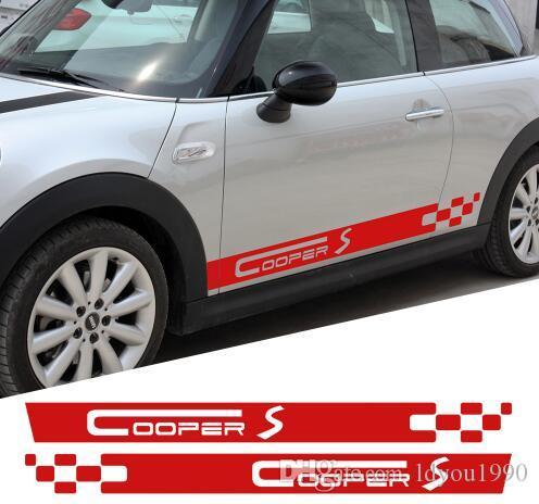 Acquista Coppia Di Adesivi Porta Laterali Mini Cooper S Racing