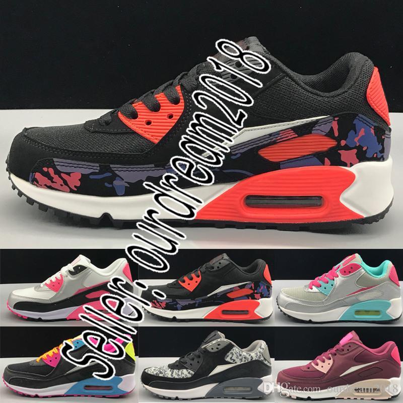 factory price 97f39 49c8c Acquista Nike Air Max Airmax Il Più Nuovo Colore SPEDIZIONE GRATUITA Nuove  Sneakers Da Donna Scarpe Classiche 90 Scarpe Casual Da Donna Nero Rosso  Bianco ...