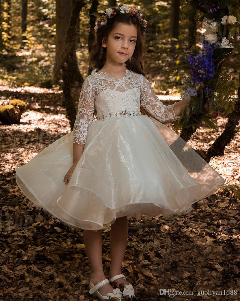 4df50379567 Cheap Flower Girls Dresses Tulle Lace Top Spaghetti Formal Kids Wear For Party  2016 Toddler Gowns455 Flower Girls Dresses Canada Ivory Flower Girls Dress  ...