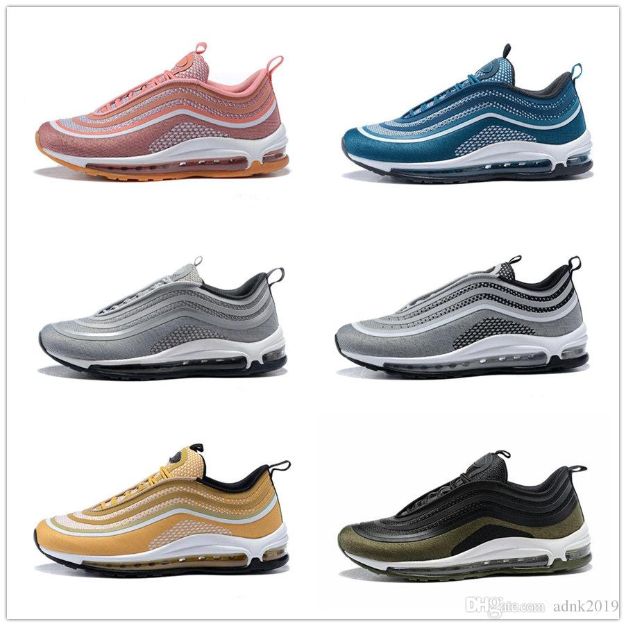 buy cheap low cost amazon footaction Black 97 Ultra Metallic Gold 3M Shoes Pink Men Women Retro Outdoors Trainers Sneakers Size US5.5--11 clearance pick a best best sale online footlocker pictures Ned5Vh