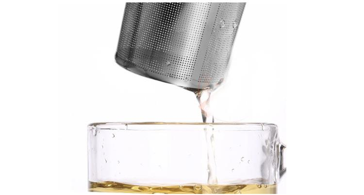 New Stainless Steel Mesh Tea Infuser With Silicone Handle Reusable Strainer Loose Tea Leaf Filter For Kitchen Dining Bar Tool Gifts HH7-1018