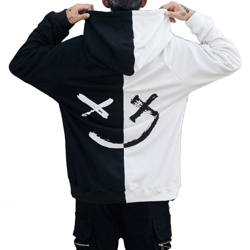 Compre Harajuku Hombres Sudaderas Con Capucha Sonrisa De Moda Impreso  Sudadera Con Capucha Hip Hop Streetwear Hombre Sudadera Con Capucha Floja  Ropa Moletom ... 80d47331315