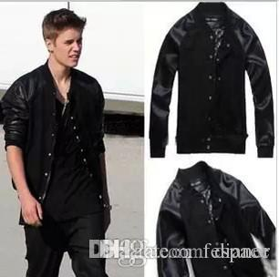 Wholesale Justin Bieber Outerwear Baseball Jacket For Men New 2015