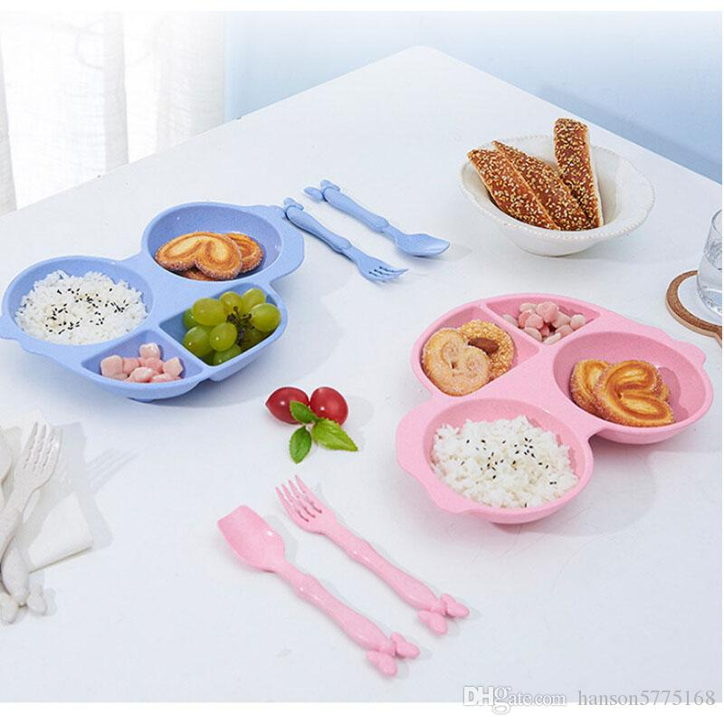2018 Wheat Lunch Box Spoon Fork Set Wheat Straw Children Dish Breakfast Plate Toddler Bowl Kid Tableware From Hanson5775168 $3.02   Dhgate.Com & 2018 Wheat Lunch Box Spoon Fork Set Wheat Straw Children Dish ...