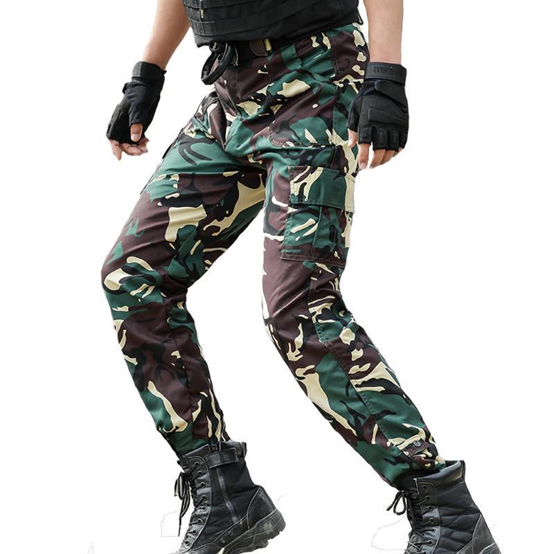 48e38e428370 Acheter Pantalon De Commando Tactique Pantalon Cargo Homme Militaire  Pantalon Homme Armée Camouflage Combat Joggers Chasseur Jungle Woodland  Pants Y1892801 ...