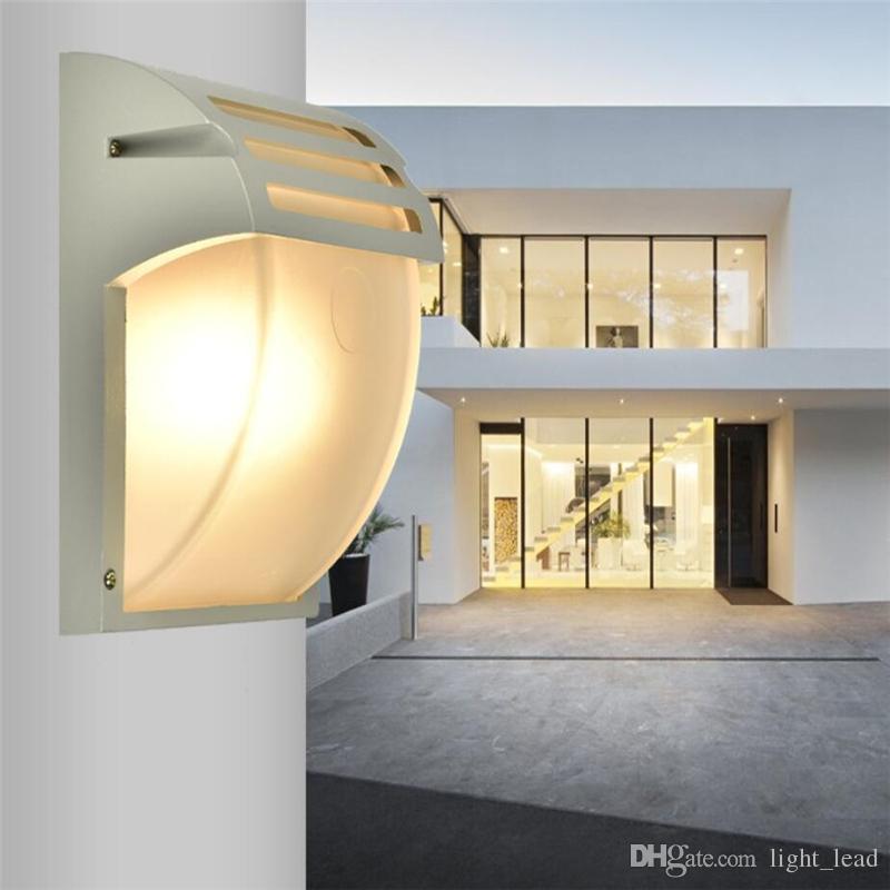 Açık Su Geçirmez LED Duvar Lambaları AC90-260V Alüminyum Avlu Bahçe Sundurma Koridor Işıkları Modern Avrupa Duvar Lambası