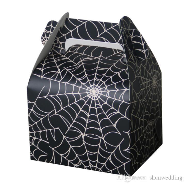 Cobweb Style Fun Halloween Party Boite De Bonbons Favor Titulaires De Mariage Et De Fete Cadeau Faveur 50pcs Lot