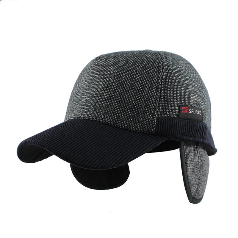 Warm Winter Thickened Baseball Cap Men S Cotton Hat Snapback Winter Hats  Ear Flaps For Men Women Hat Wholesale F240 Womens Baseball Hats Cheap Snapback  Hats ... 93f35eabd94