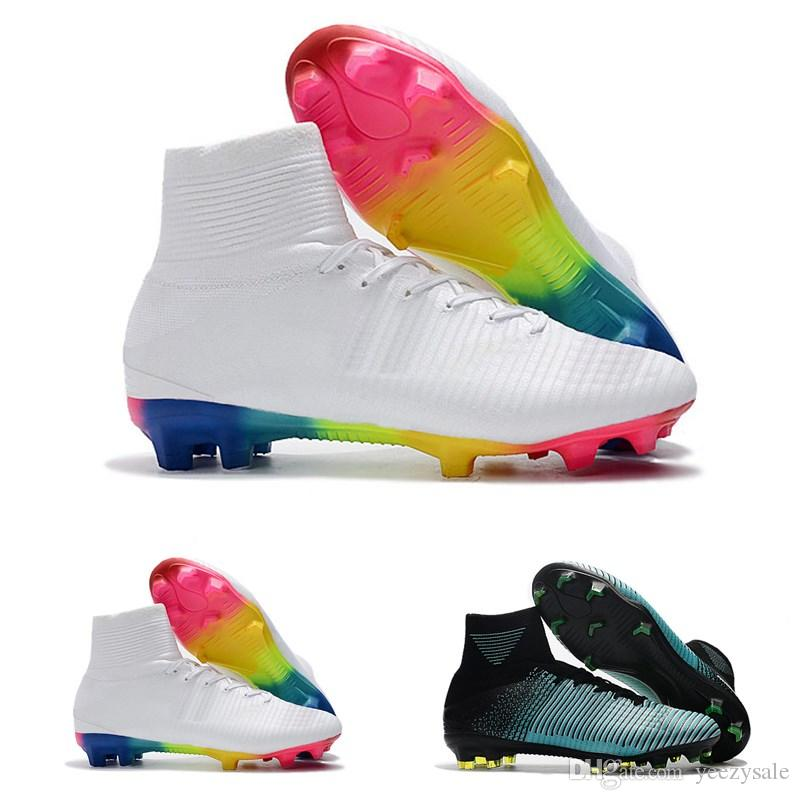 2018 Men Kids Women Mercurial Superfly CR7 V FG AG Football Boots Cristiano  Ronaldo High Tops Neymar JR ACC Soccer Shoes Soccer Cleats UK 2019 From ... 6e0e9913cc