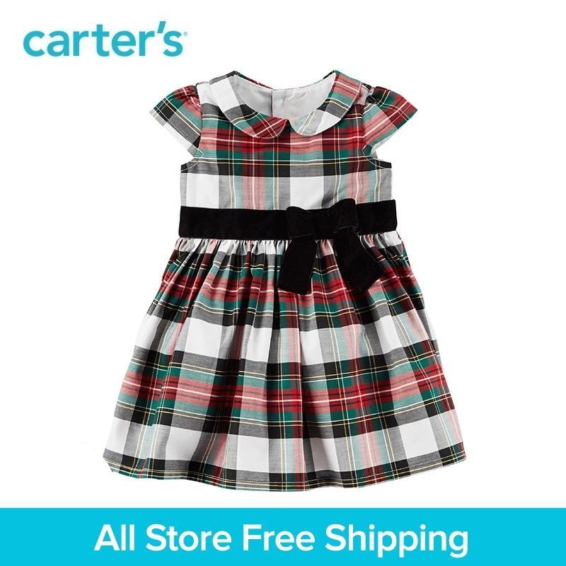 3a4485f2bc Compre Carter s Bebê Crianças Crianças Roupas Menina Primavera Verão Xadrez  Vestido De Férias 120G169 Y18102007 De Gou07