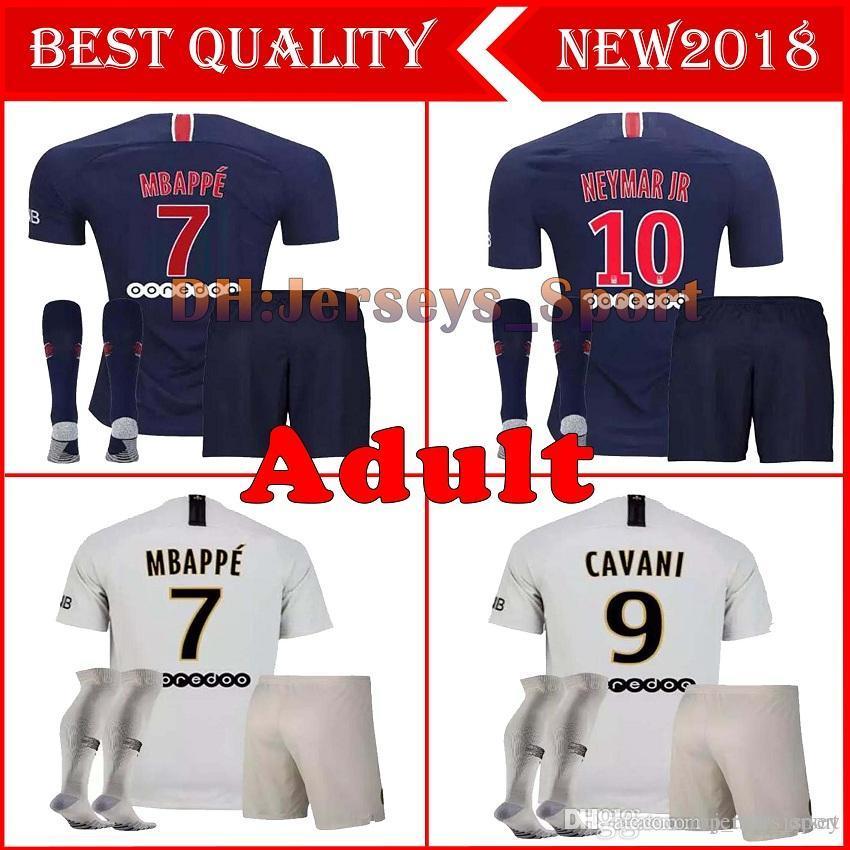 6670c36bc 2019 Wholesale Paris Away ADULT Kit +Socks 18 19 Mbappe Home VERRATTI  MAILLOT DE FOOT Survetement Psg SHIRT 2018 2019 Seasons PARIS MAN Jersey  From ...