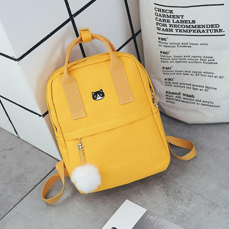 3bc589451a39 Women Backpack For School Teenagers Girls Vintage Stylish School Bag Ladies  Canvas Fabric Backpack Female Bookbag Mochila 1574 Swiss Army Backpack  Black ...