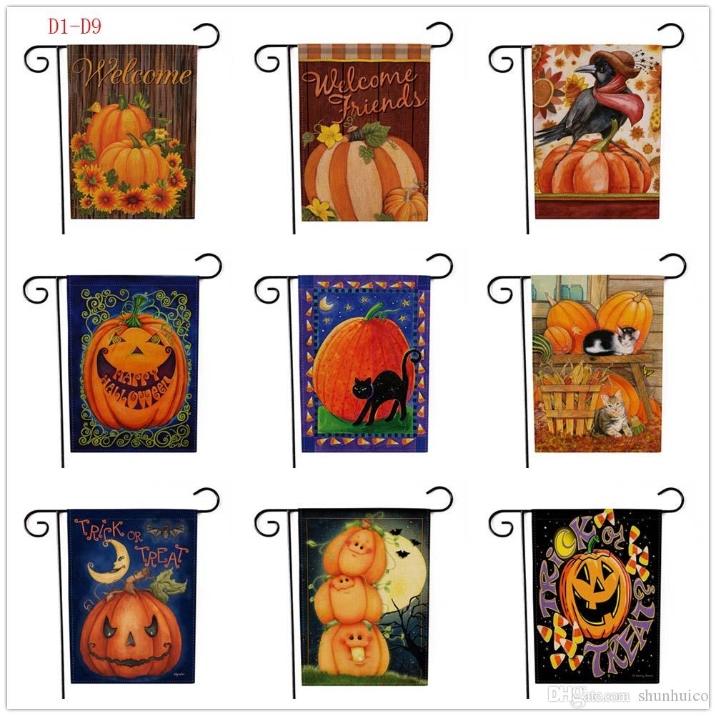2018 halloween garden flags welcome autumn fall garden flag banner