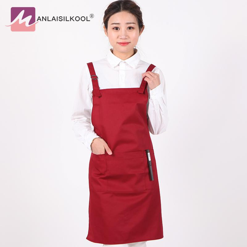 Active Components Alert Flower Pattern Cotton Apron Woman Adult Bibs Home Cooking Baking Shop Cleaning Aprons