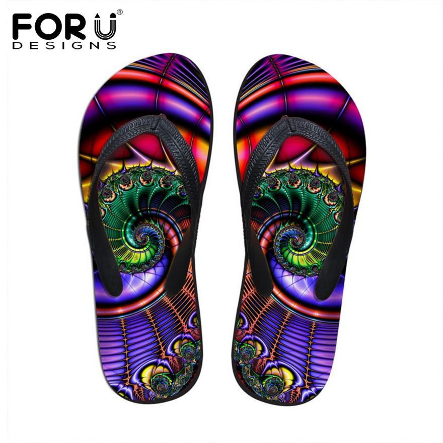 FORUDESIGNS 2017 Summer Women Flip Flops Ladies Bohemia Beach Flip-Flops Shoes Fashion Female Beach Slippers Rubber Flipflops