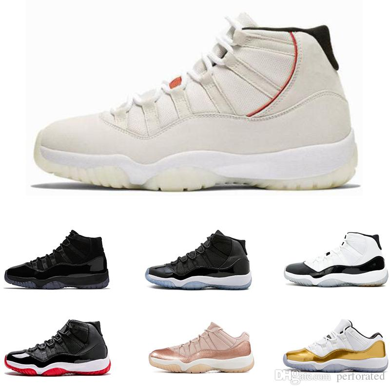 f455a82661cc 2019 Platinum Tint Cap And Gown 11 XI 11s PRM Heiress Black Stingray Gym  Red Chicago Midnight Navy Space Jams Men Basketball Shoes Sports Sneaker  From ...