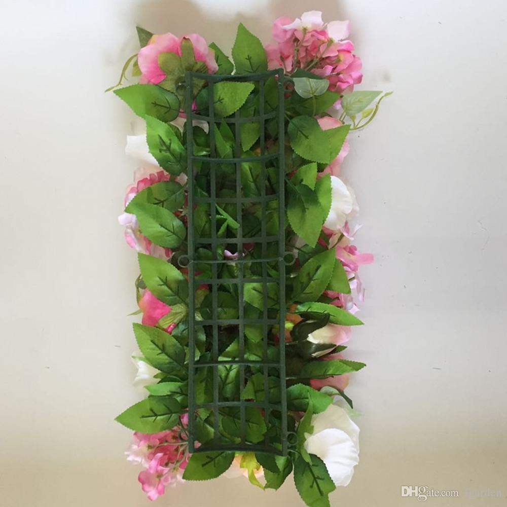 Fond de plante fleur simulation mur pour le fond de la fenêtre de studio et décoration de mariage
