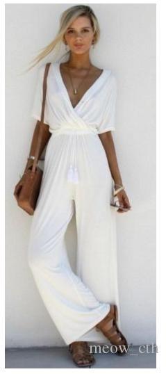 2018 estate nuova moda femminile europea e americana sexy sottile gamba larga corsetto casual pantaloni tuta