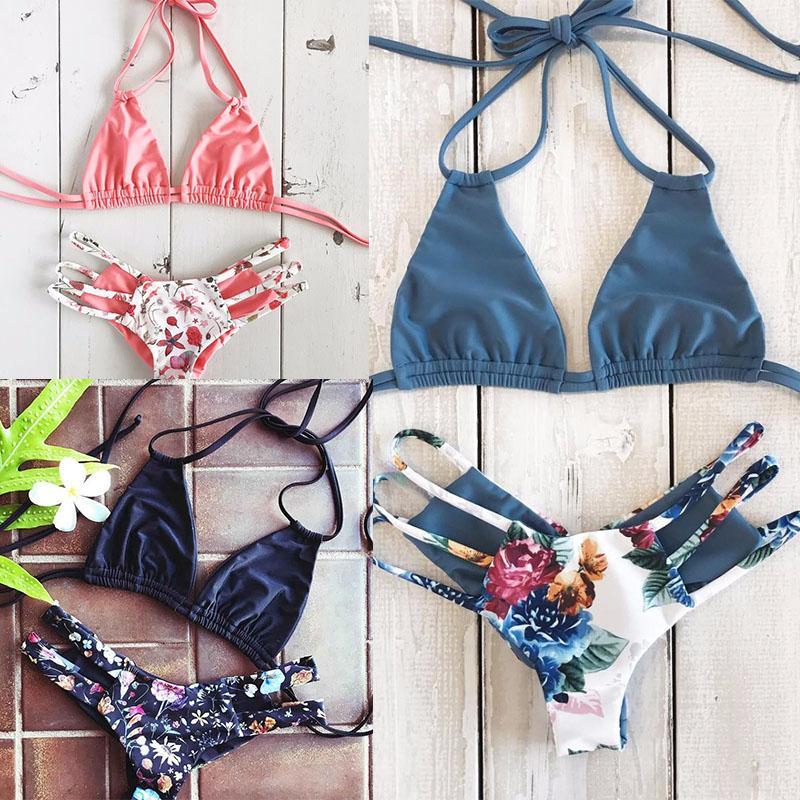 7232eeb594e 2019 2018 Sexy Bikini Swimwear Women Push Up Swimsuit Bandage Bikini Set  Brazilian Summer Beach Bathing Suits Female Biquini Print From  Romantic_clothes, ...