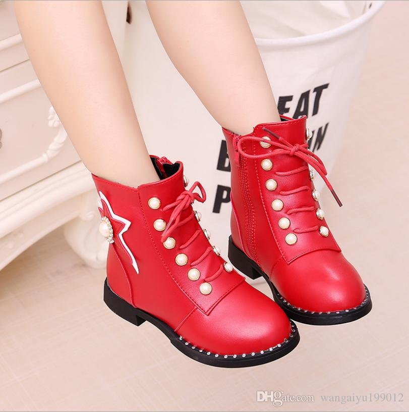 2018 Girls Boots Autumn And Winter New Korean Version of the ... 262c4b01c297