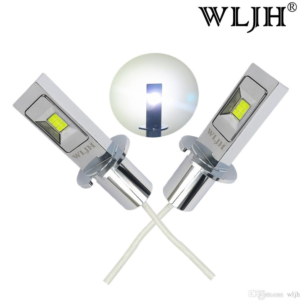 Wljh White H3 Led Bulbs For Car Truck Fog Lights Daytime Running ...