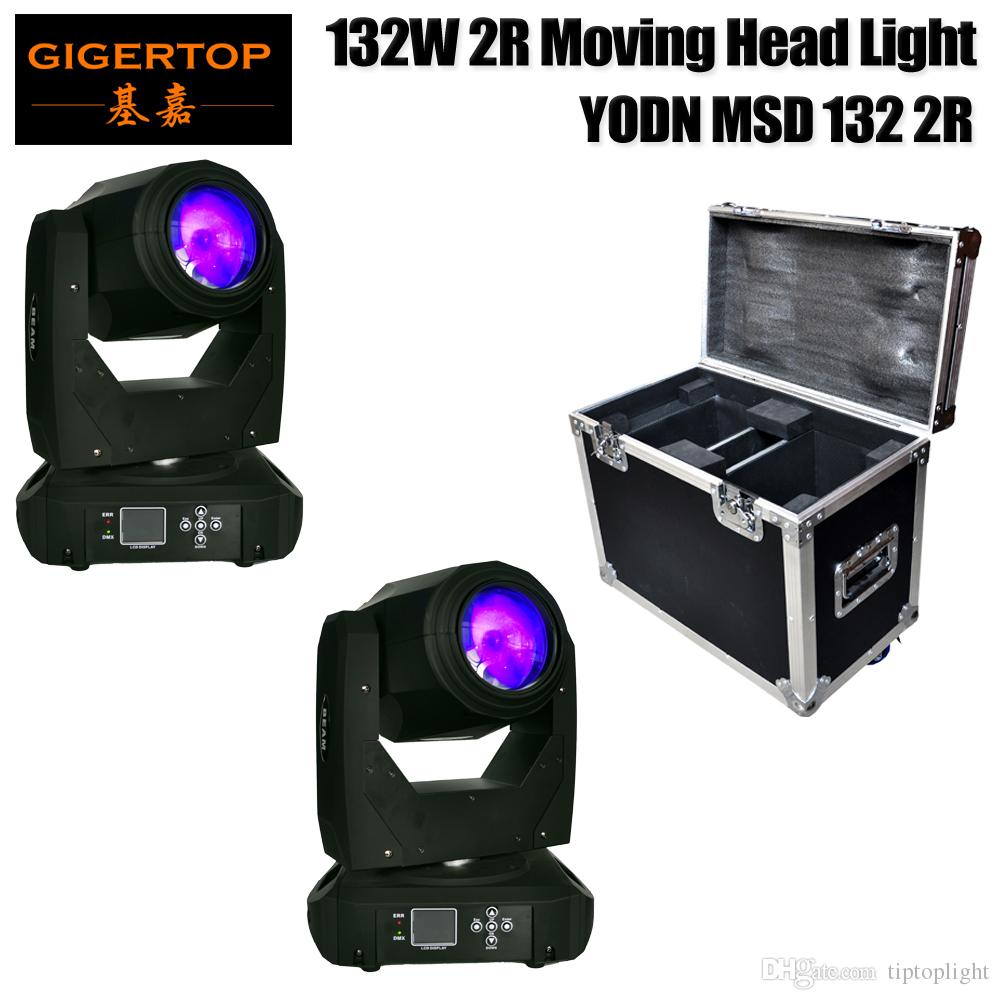 Freeshipping 2IN1 Road Case 180W Bulb Moving Head Light Professional Stage Effect Equipment Spot Light with DMX for Disco KTV