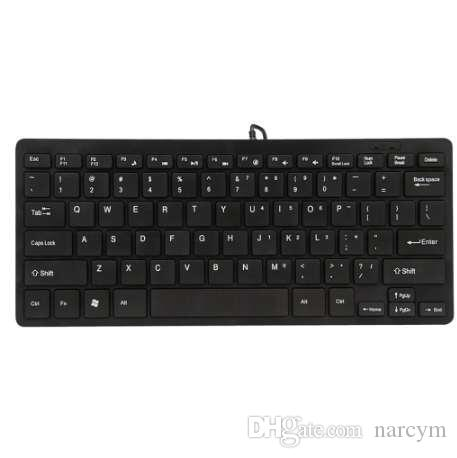 PROMOTION! Black Ultra thin Quiet Small Size 78 Keys Mini Multimedia USB Keyboard For Laptop PC