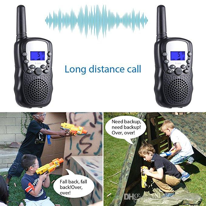 Mini Walkie Talkie Toy Crianças Rádio Reviser RT388 Rádio Portátil Set 0.5W Rádio Em Dois Sentidos Comunicador
