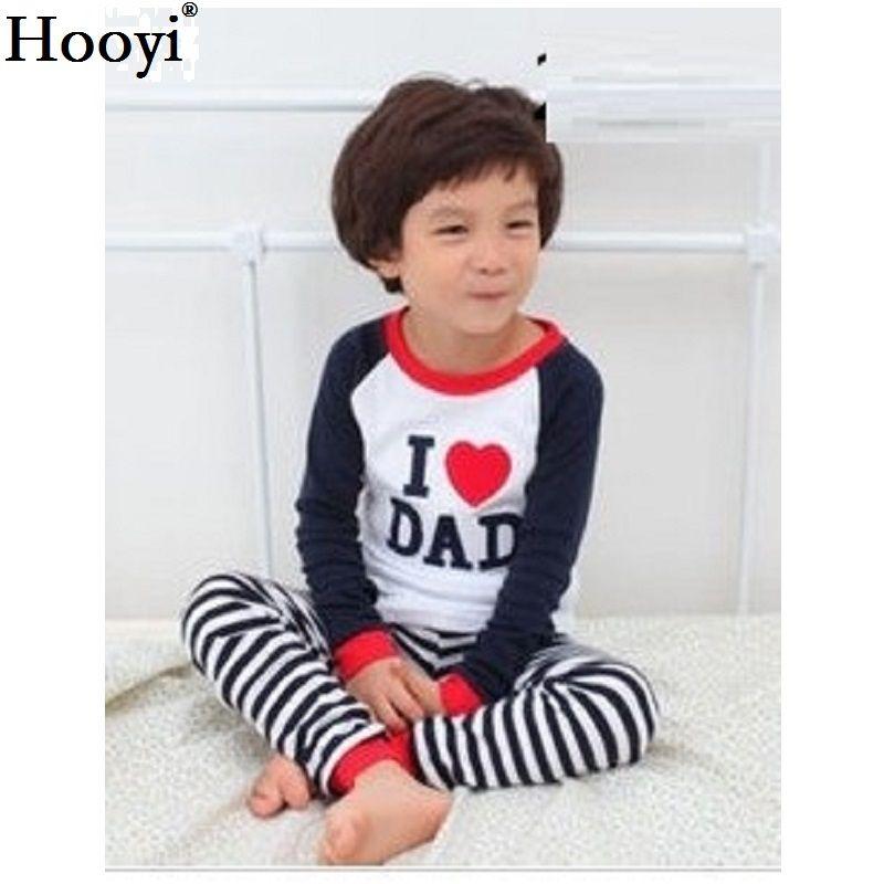f4f8db3c8df8 Hot Sale Boys Girls Pajamas Sleep Suits Kids T-shirts Pants 100 ...