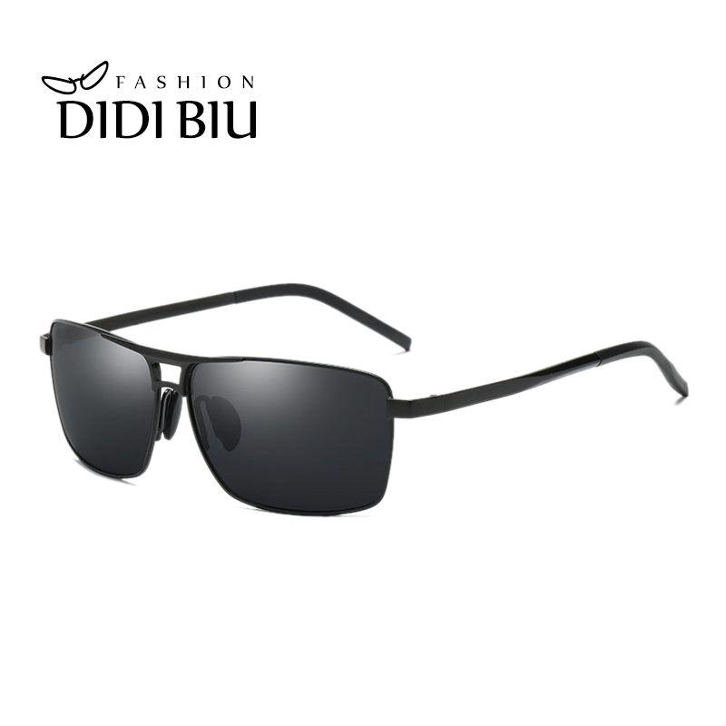 70b6090f20f9 DIDI Men Rectangle Metal Polarizing Sunglasses Classic Italian Brand  Driving Glasses Blue Coating Eyewear Polarized Shades HN871 Mirrored  Sunglasses Heart ...