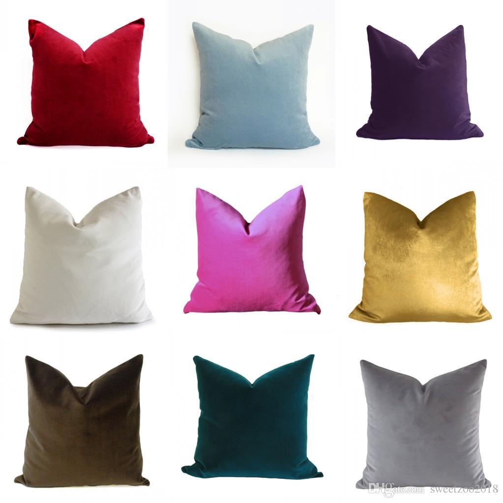 Velvet Square Throw Pillow Covers 18x18 45*45 Cm Home Decorative ...