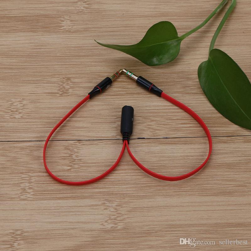 3.5 мм 1 до 2 аудио кабель одно отверстие компьютера наушники микрофон адаптер для Conputer смартфон с микрофоном высокое качество