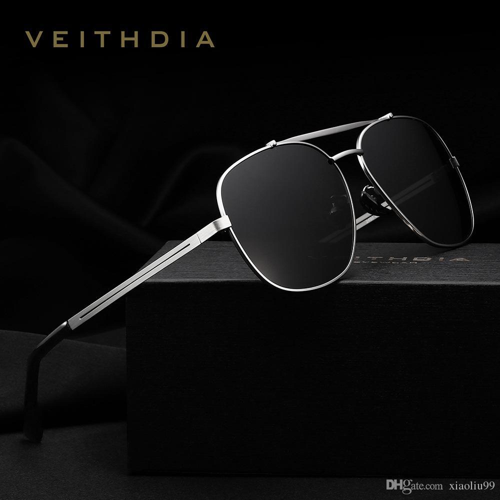 14031fe1f5c VEITHDIA New Brand Designer Polarizerd Sunglasses Men Classic Glasses  Mirror Polaroid Lense Vintage Sun Glasses Oculos De Sol With 2493 John  Lennon ...
