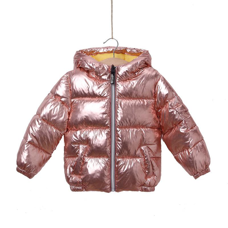 fda1c7f01 Children Winter Jacket For Girl Kids Silver Gold Boys Casual Hooded ...