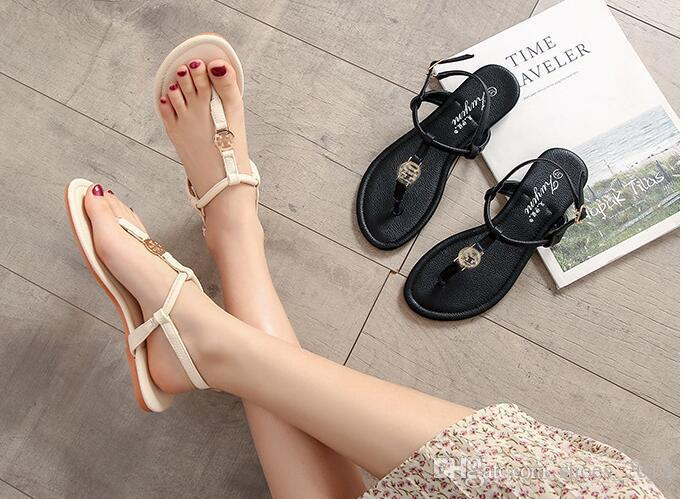 ce242dc4542a42 New 2018 Summer Style Shoes Women Sandals Fashion Brand Slippers Flats Good  Quality Flip Flops Sexy Flat Sandal Pink Shoes Salt Water Sandals From ...