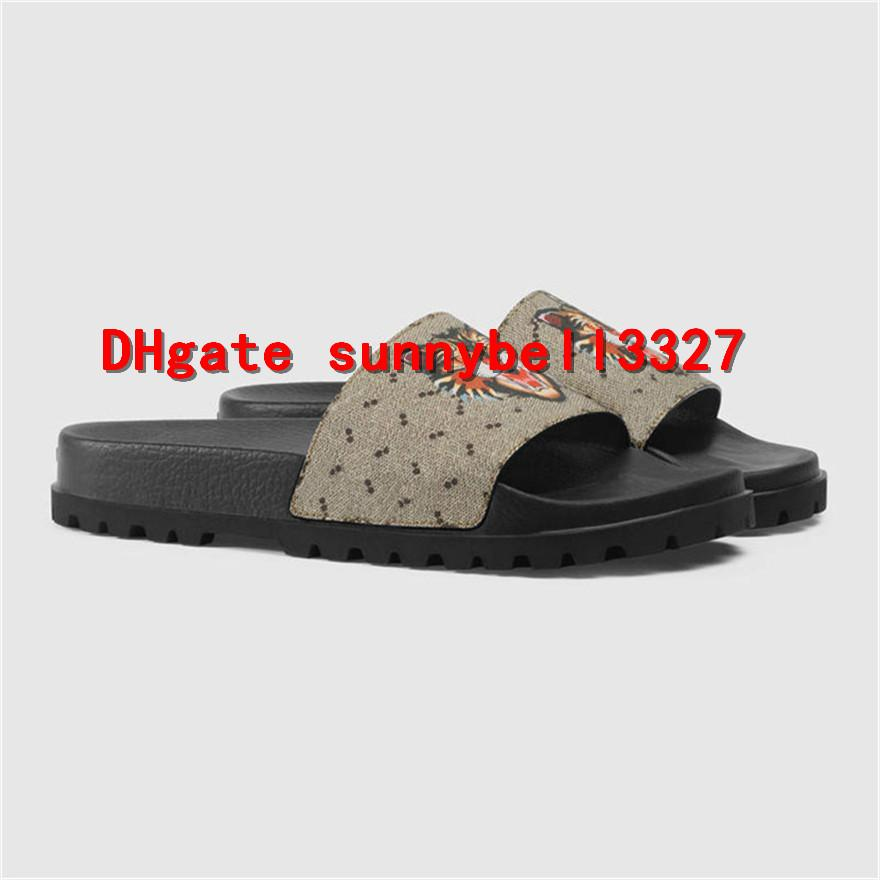 bf0b84b90cf7 Web Rubber Slide Sandal Men Sandals Designer Shoes Luxury Slide ...
