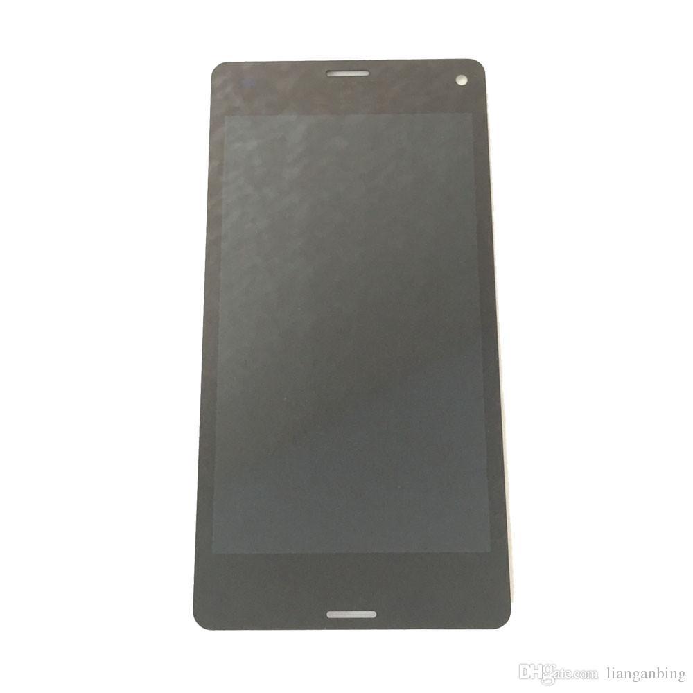 소니 Xperia Z3 컴팩트 미니 D5803 D5833 화이트 블랙에 대한 새로운 LCD 디스플레이 터치 스크린 디지타이저 강화 유리 DHL 물류