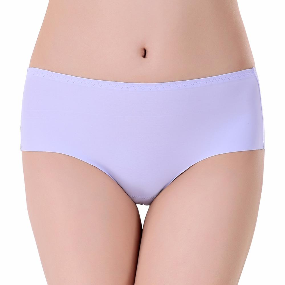 Codysale Sexy Seamless Women Panties Summer Ice Silk Briefs Female Cool Cotton Underwear Ultra-Thin Transparent Solid Intimates